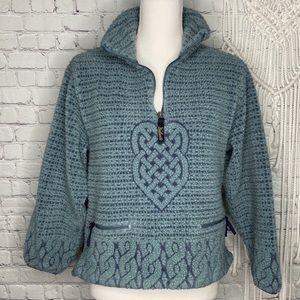 Woolrich blue celtic Sherpa fleece zip pullover